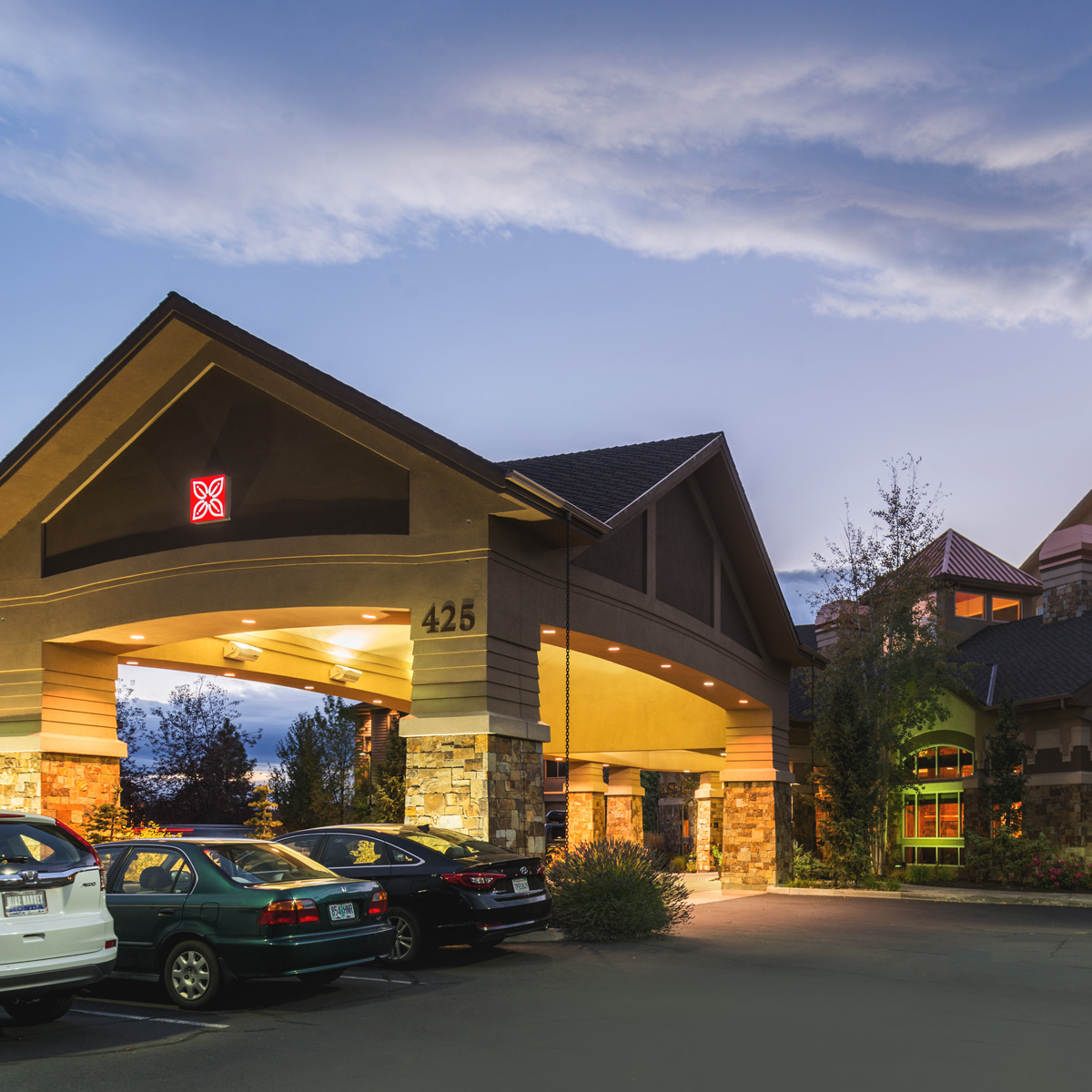 The Hilton Garden Inn in Bend Oregon Exterior